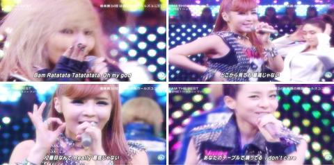 110902 뮤직스테이션에 2NE1이 일본 첫음악방송 출연