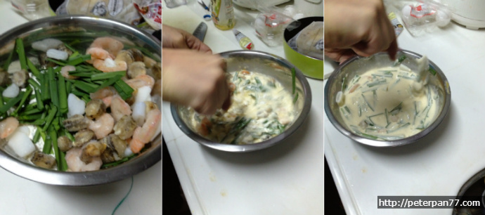 600엔으로 부침개 해먹기 // 600円でチヂミ料理