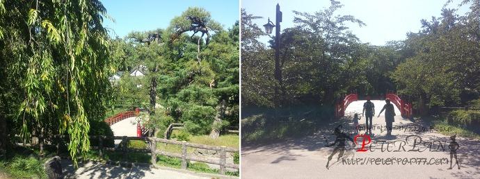 히로사키공원 히로사키성 타카오카하시 弘前公園 弘前城 鷹丘橋